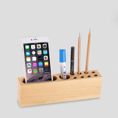 Multi-Function Cell Phone Stand Holder Natural Wood Dock Stand for iPhone 7S 6S Samsung S8 Xiaomi Smartphones Pens Office Table AcCellphone &amp; Accessories<br>Multi-Function Cell Phone Stand Holder Natural Wood Dock Stand for iPhone 7S 6S Samsung S8 Xiaomi Smartphones Pens Office Table Ac<br>