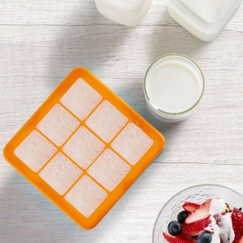 (Pass FDA) Xiaomi Kalar Silicone Ice Cube Tray -20~200 �� DIY Ice Mold Square Shape Fruit Ice Cube Maker Bar Kitchen