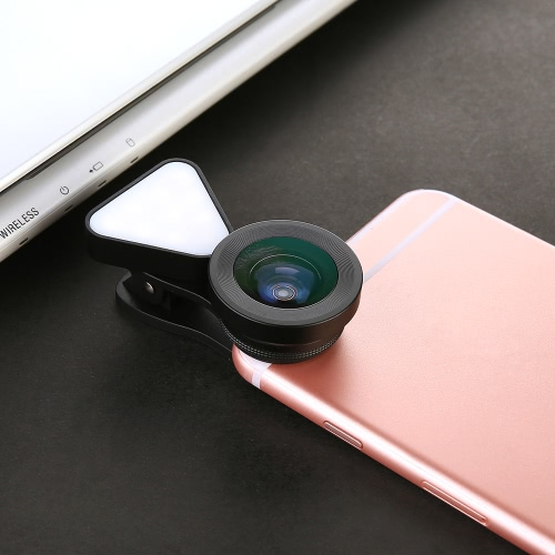 LIEQI LQ-035 3 in 1 Clip-on Optical Glass Lens HD 0.4X-0.6X Wide-angle Lens 15X Macro-lens with Rechargeable Flashlight for iPhoneCellphone &amp; Accessories<br>LIEQI LQ-035 3 in 1 Clip-on Optical Glass Lens HD 0.4X-0.6X Wide-angle Lens 15X Macro-lens with Rechargeable Flashlight for iPhone<br>