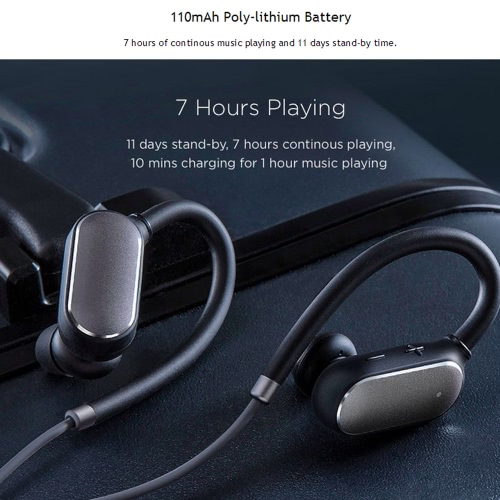Original Xiaomi Mi Sports BT Headset Xiaomi Wireless BT 4.1 Music Sport Earbud In-ear Earphone IPX4 Waterproof & Sweatproof Long Standby Time with Mic for iPhone Android Smartphones