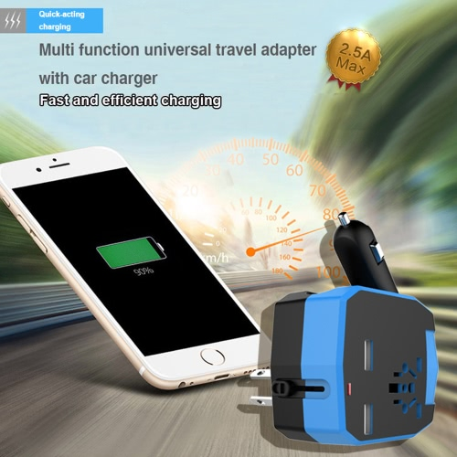 Universal International All in One Armor World Travel Adapter with Car Charger 2.5A Dual USB Ports for US AU UK EU Plug Socket PowCellphone &amp; Accessories<br>Universal International All in One Armor World Travel Adapter with Car Charger 2.5A Dual USB Ports for US AU UK EU Plug Socket Pow<br>