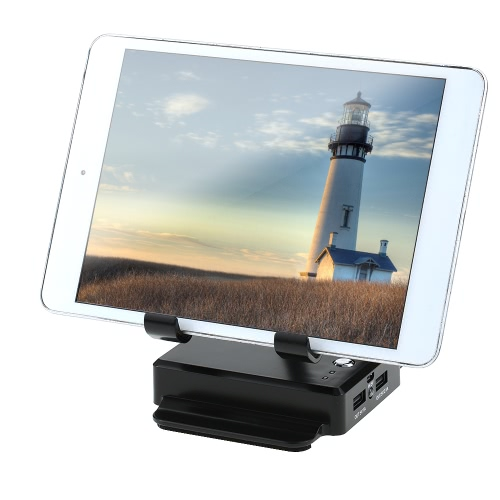 Portable Foldable 2 in 1 Phone Tablet Stand Holder Adjustable Cell Phone Dock Bracket &amp; 10400mAh Power Bank with Dual USB ChargingCellphone &amp; Accessories<br>Portable Foldable 2 in 1 Phone Tablet Stand Holder Adjustable Cell Phone Dock Bracket &amp; 10400mAh Power Bank with Dual USB Charging<br>