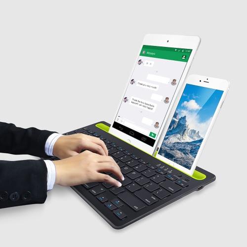 Dual Channel Keyboard Bluetooth Wireless Keyboard for Smart Phone Tablet Laptop Business UseCellphone &amp; Accessories<br>Dual Channel Keyboard Bluetooth Wireless Keyboard for Smart Phone Tablet Laptop Business Use<br>