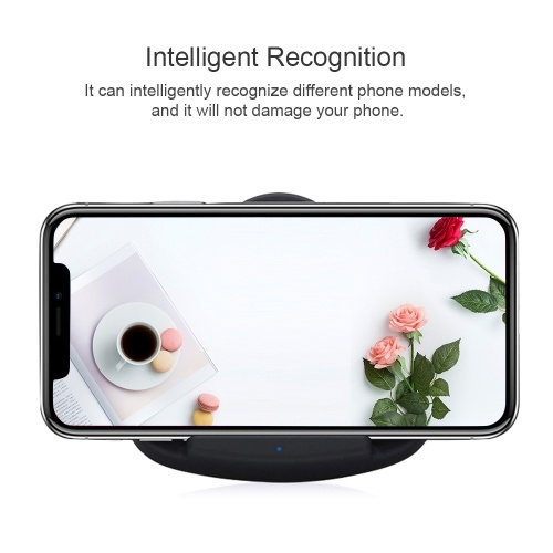 Portable Foldable Mini Fast Wireless Charger Stand Holder Intelligent Recognition Qi Wireless Charging Pad Charge Base Ultra Thin Triangle-shaped for iPhone 8/8 Plus/X & Samsung Galaxy S8/S8+/Note 8 and Other Qi-enabled Smart Phones