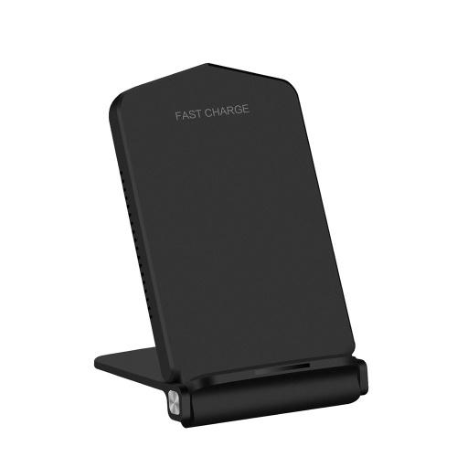Qiスタンダード高速ワイヤレス充電器充電スタンド折りたたみ式ホルダーベース10Wの高速充電は、Samsung Galaxy Note 8 / S8 / S8 + / S7 Edge / S7 / S6 Edge + / S6 Edge / S6 / Note 5またはiPhone 8/8 Plus / X