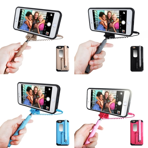 TASHELLS Foldable Selfie Stick Phone Case For iPhone 6 Plus 6S Plus Portable Multifunctional Self-stick Phone Shell Anti-scratch ACellphone &amp; Accessories<br>TASHELLS Foldable Selfie Stick Phone Case For iPhone 6 Plus 6S Plus Portable Multifunctional Self-stick Phone Shell Anti-scratch A<br>