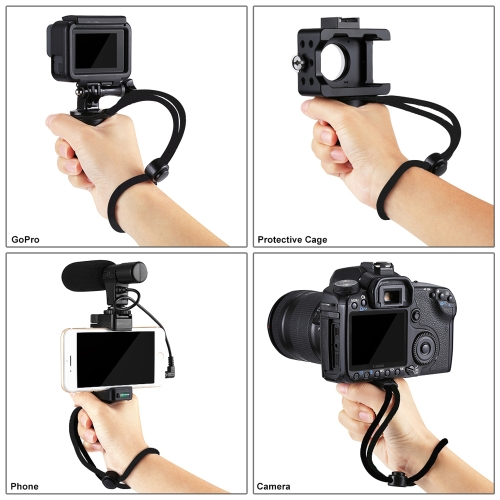 PULUZ Multi-function Bracket Handheld ABS Phone Holder Handle With Cold Shoe Base &amp; Wrist Strap for Smartphone GoPro CameraCellphone &amp; Accessories<br>PULUZ Multi-function Bracket Handheld ABS Phone Holder Handle With Cold Shoe Base &amp; Wrist Strap for Smartphone GoPro Camera<br>