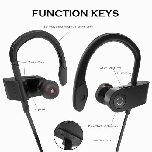 Fozento FT1 In-ear Wireless Sport Stereo BT Headphone Headset Running Earphone Hands-free Pair/Off/On Receive/Hang Music Play/PausCellphone &amp; Accessories<br>Fozento FT1 In-ear Wireless Sport Stereo BT Headphone Headset Running Earphone Hands-free Pair/Off/On Receive/Hang Music Play/Paus<br>