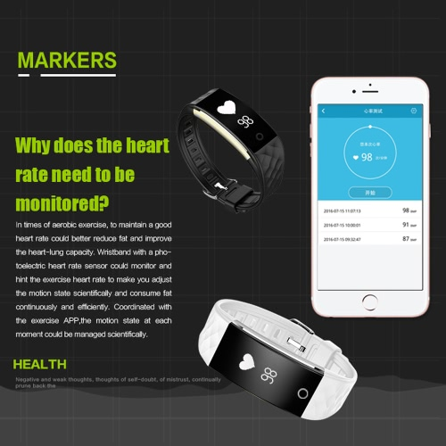 S2 Heart Rate Smart Bluetooth Sport Watch Wristband Bracelet 0.96 OLED Call Notification Pedometer Alarm Anti-lost Sleep MonitorCellphone &amp; Accessories<br>S2 Heart Rate Smart Bluetooth Sport Watch Wristband Bracelet 0.96 OLED Call Notification Pedometer Alarm Anti-lost Sleep Monitor<br>