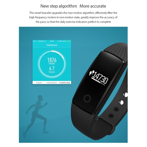 V05C Heart-rate Smart BT Sport Wristband Calls Notification Activity Tracking Sleep Monitor for iPhone Android SmartphonesCellphone &amp; Accessories<br>V05C Heart-rate Smart BT Sport Wristband Calls Notification Activity Tracking Sleep Monitor for iPhone Android Smartphones<br>