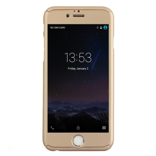 KKMOON 360 iPhone 6プラス6Sプラス用の強化ガラス液晶保護フィルム付き°オールラウンド保護スリムケース耐久性に優れたシェルカバー