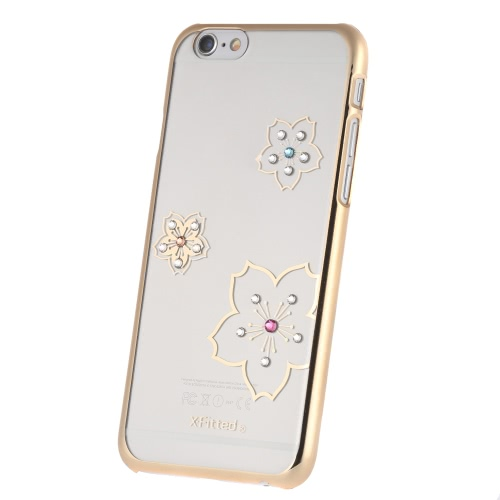 Original X-Fitted Luxury 360° Full Protective Clear Back Case Plate Bumper Phone Shell Hard Cover with Rhinestones Plating DesignCellphone &amp; Accessories<br>Original X-Fitted Luxury 360° Full Protective Clear Back Case Plate Bumper Phone Shell Hard Cover with Rhinestones Plating Design<br>
