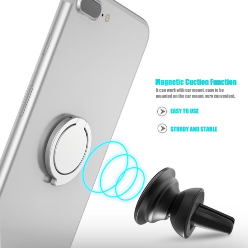 Universal Cell Phone Finger Ring Holder 360° Rotation Comma-shaped Design Stand Grip Kickstand Magnetic Suction Car Mount for SmarCellphone &amp; Accessories<br>Universal Cell Phone Finger Ring Holder 360° Rotation Comma-shaped Design Stand Grip Kickstand Magnetic Suction Car Mount for Smar<br>