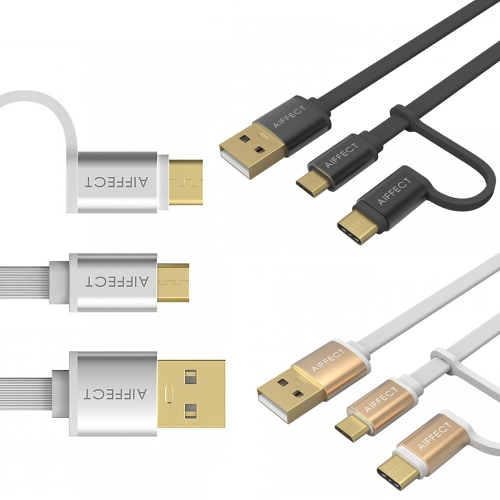 AIFFECT 2 Pack 3.3Ft USB 2.0 to Micro USB / Type C Charging Cable Sync Data Line Cord for Samsung 2-in-1Cellphone &amp; Accessories<br>AIFFECT 2 Pack 3.3Ft USB 2.0 to Micro USB / Type C Charging Cable Sync Data Line Cord for Samsung 2-in-1<br>