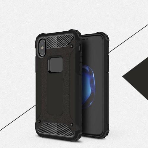 iPhone用ケーススリムフィットデュアルレイヤーハードバックカバーバンパー保護ショックアブソーション&スキッドプルーフアンチスクラッチケースfor Apple iPhone X 5.5インチ
