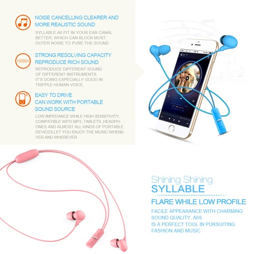 SYLLABLE A6S Necklace Wireless Bluetooth Earphone Earbuds Neckband Running Three-Way Calling Multipoint Connection with   MicrophoCellphone &amp; Accessories<br>SYLLABLE A6S Necklace Wireless Bluetooth Earphone Earbuds Neckband Running Three-Way Calling Multipoint Connection with   Micropho<br>