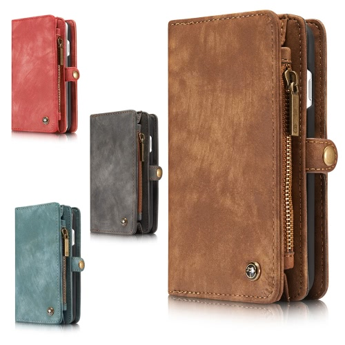 CaseMe 2 in 1 Zipper Wallet Phone Case Cover PU Leather Protective Shell Detachable Folio Flip Holster Carrying Case Card Holder fCellphone &amp; Accessories<br>CaseMe 2 in 1 Zipper Wallet Phone Case Cover PU Leather Protective Shell Detachable Folio Flip Holster Carrying Case Card Holder f<br>