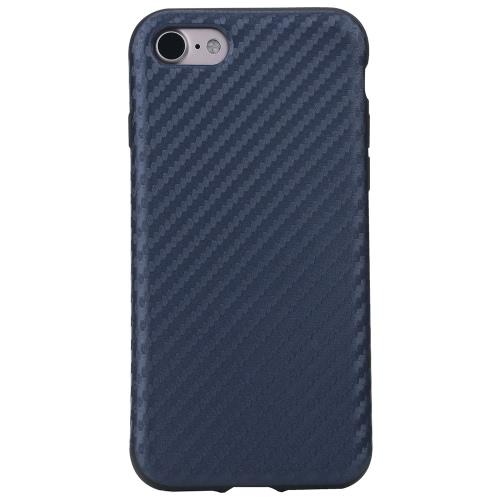 ROCK炭素繊維の穀物TPU電話ケース360度全iPhone 7 4.7inch用の電話カバー保護シェル高品質のソフトケースを守ります