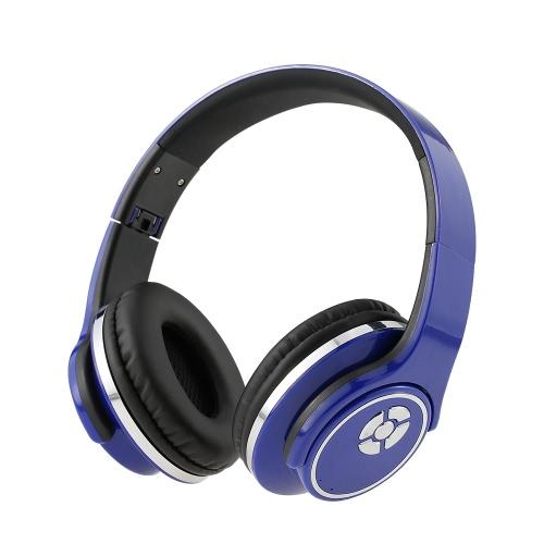 Auricolari stereo multifunzionale senza fili BT stereo auricolare combinato a lunga durata lavorativa pieghevole auricolari per cuffie sportivi di design con microfono per ascoltare musica radio