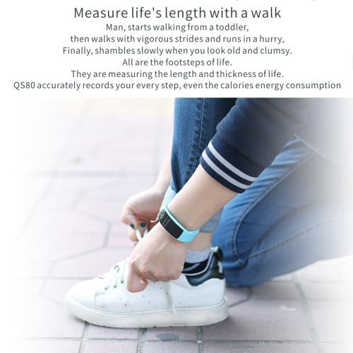 QS 80 Heart Rate Smart Band Bluetooth Sport Watch Wristband Bracelet 0.42inch HD OLED Display Call Notification Pedometer Alarm SlCellphone &amp; Accessories<br>QS 80 Heart Rate Smart Band Bluetooth Sport Watch Wristband Bracelet 0.42inch HD OLED Display Call Notification Pedometer Alarm Sl<br>