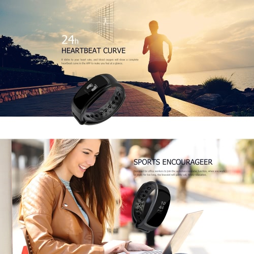 OUKITEL A18 Heart-rate Smart BT Sport Wristband Calls Notification Activity Tracking Sleep Monitor for iPhone 7 Plus Samsung S8+ fCellphone &amp; Accessories<br>OUKITEL A18 Heart-rate Smart BT Sport Wristband Calls Notification Activity Tracking Sleep Monitor for iPhone 7 Plus Samsung S8+ f<br>