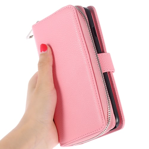 KKmoon 2 in 1 Zipper Wallet Phone Case Cover PU Leather Protective Shell Detachable Folio Flip Holster Carrying Case Card Holder fCellphone &amp; Accessories<br>KKmoon 2 in 1 Zipper Wallet Phone Case Cover PU Leather Protective Shell Detachable Folio Flip Holster Carrying Case Card Holder f<br>