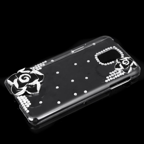 PC Hard Back Case Protective Shell Bling Diamond Rhinestone Crystal for Samsung Galaxy S5 i9600 Black CamelliaCellphone &amp; Accessories<br>PC Hard Back Case Protective Shell Bling Diamond Rhinestone Crystal for Samsung Galaxy S5 i9600 Black Camellia<br>