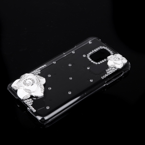 PC Hard Back Case Protective Shell Bling Diamond Rhinestone Crystal for Samsung Galaxy S5 i9600 White CamelliaCellphone &amp; Accessories<br>PC Hard Back Case Protective Shell Bling Diamond Rhinestone Crystal for Samsung Galaxy S5 i9600 White Camellia<br>