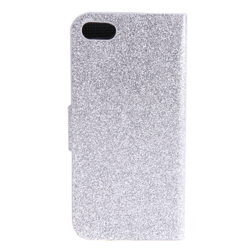 Fashion Wallet Case Flip Leather Stand Cover with Card Holder for iPhone 5S 5C 5 SilverCellphone &amp; Accessories<br>Fashion Wallet Case Flip Leather Stand Cover with Card Holder for iPhone 5S 5C 5 Silver<br>