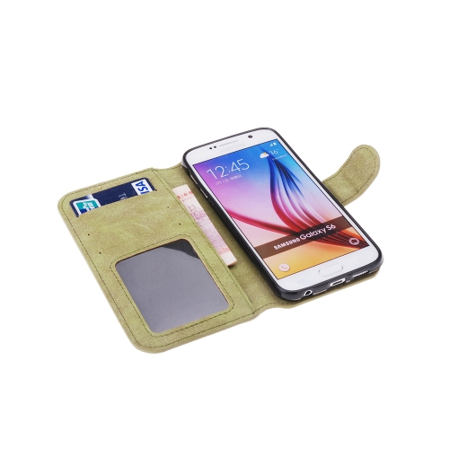 Fashion Retro Flip PU Leather Wallet Protective Case Cover with Card Holder Photo Frame for Samsung Galaxy S6Cellphone &amp; Accessories<br>Fashion Retro Flip PU Leather Wallet Protective Case Cover with Card Holder Photo Frame for Samsung Galaxy S6<br>