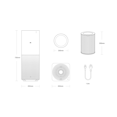 Xiaomi Air Purifier Cleaner Eliminator with Double Air Blower 3-Layer Filter Phone Remote Control 406m?/h CARD 48.7?Area for XiaomCellphone &amp; Accessories<br>Xiaomi Air Purifier Cleaner Eliminator with Double Air Blower 3-Layer Filter Phone Remote Control 406m?/h CARD 48.7?Area for Xiaom<br>