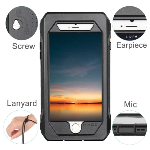 RIYO IP68 Waterproof Shockproof Dirt Snow Proof Cover Case for iPhone 6 PC TPE Material Unique Stand Design Waterproof BreathableCellphone &amp; Accessories<br>RIYO IP68 Waterproof Shockproof Dirt Snow Proof Cover Case for iPhone 6 PC TPE Material Unique Stand Design Waterproof Breathable<br>