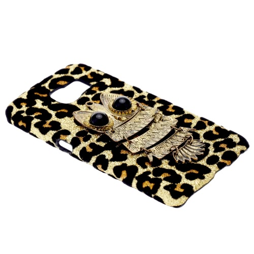 For Galaxy S6 Edge PC Phone Protect Case Luxury Glitter Leopard Print with Special Metal Owl Pattern DesignCellphone &amp; Accessories<br>For Galaxy S6 Edge PC Phone Protect Case Luxury Glitter Leopard Print with Special Metal Owl Pattern Design<br>