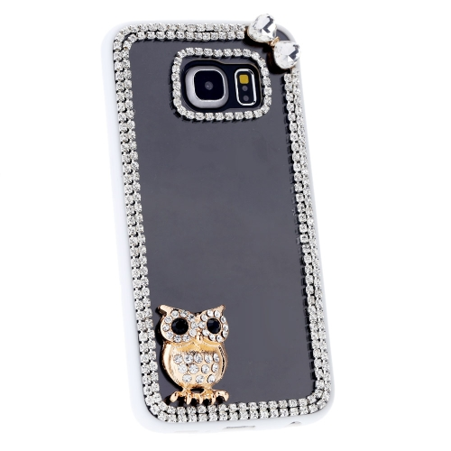 For Samsung Galaxy S6 Edge PC Phone Protect Case Luxury Bling Bling Crystal with Special Metal Owl Pattern DesignCellphone &amp; Accessories<br>For Samsung Galaxy S6 Edge PC Phone Protect Case Luxury Bling Bling Crystal with Special Metal Owl Pattern Design<br>