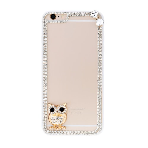 For iPhone 6 plus 5.5 PC Phone Protect Case Luxury Bling Bling Crystal with Special Metal Owl Pattern DesignCellphone &amp; Accessories<br>For iPhone 6 plus 5.5 PC Phone Protect Case Luxury Bling Bling Crystal with Special Metal Owl Pattern Design<br>
