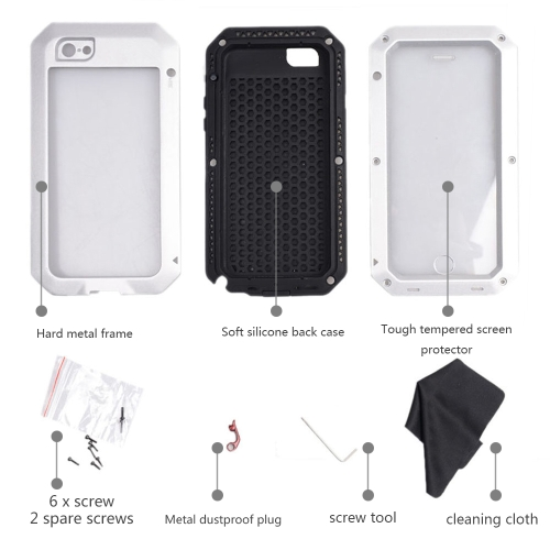Durable Protective Case Shell Cover Dustproof Shockproof Fingerprint Function Metal for iPhone 6 Plus 6S PlusCellphone &amp; Accessories<br>Durable Protective Case Shell Cover Dustproof Shockproof Fingerprint Function Metal for iPhone 6 Plus 6S Plus<br>