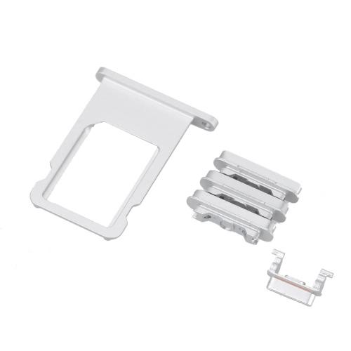 Boutons latéraux Plateau de la Carte SIM Clé de Volume Clé d'Alimentation Clés de Vibreur Réparer Fixer Remplacer Pièces de Remplacement pour iPhone 6 4.7