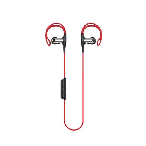 FSHANG S7ハイファイスポーツイヤホンインイヤーステレオBT4.1ヘッドフォンヘッドセットハンズフリーペア/オフ/オン受信/ハングミュージック再生/一時停止音量+/- for iPhone X Samsung S8 + Note 8