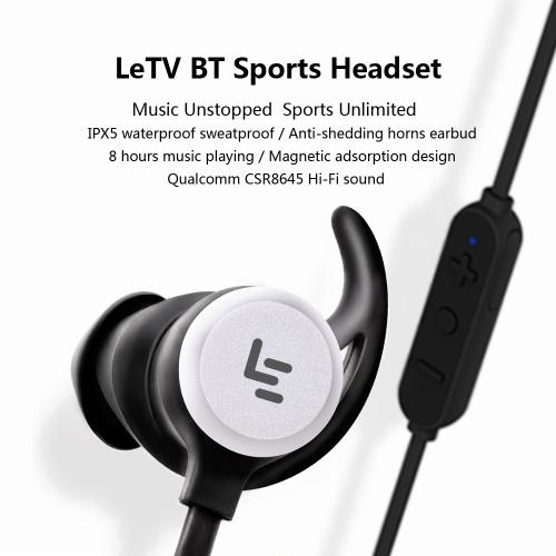 Original LeTV LePBH301 Earpiece BT Sports Headset IPX5 Waterproof Sweatproof Qualcomm CSR8645 Hi- Fi sound BT4.1 Earphone For iOS/Cellphone &amp; Accessories<br>Original LeTV LePBH301 Earpiece BT Sports Headset IPX5 Waterproof Sweatproof Qualcomm CSR8645 Hi- Fi sound BT4.1 Earphone For iOS/<br>