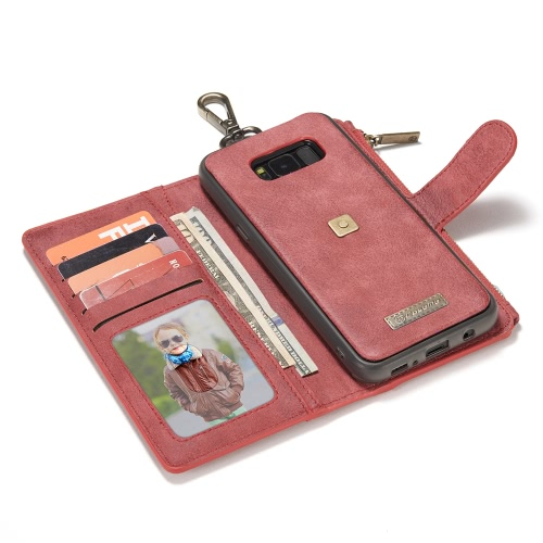 CaseMe 009 Multi-functional Wallet Phone Case Card-slot Protective Cover with Metal Buckle for 6.2 Inches Samsung Galaxy S8 Plus ECellphone &amp; Accessories<br>CaseMe 009 Multi-functional Wallet Phone Case Card-slot Protective Cover with Metal Buckle for 6.2 Inches Samsung Galaxy S8 Plus E<br>