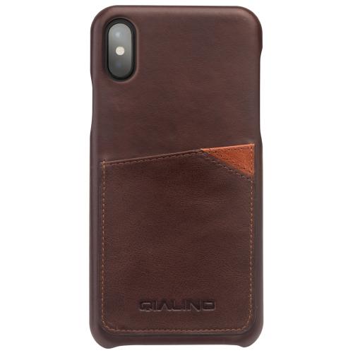 Housse de protection multi-fonctions QIALINO Housse de protection en cuir PU pour iPhone X