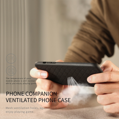 WSKEN Weaving Protective Phone Case for iPhone 7 8 Plus Braided Ventilated Phone Shell Durable TPU Cover Shock-proof Scratch-proof
