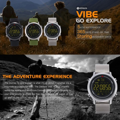 Zeblaze VIBE Sport SmartWatch Designed for hiking 5ATM waterproof 365 days stand-by time for Android&amp;iOSCellphone &amp; Accessories<br>Zeblaze VIBE Sport SmartWatch Designed for hiking 5ATM waterproof 365 days stand-by time for Android&amp;iOS<br>