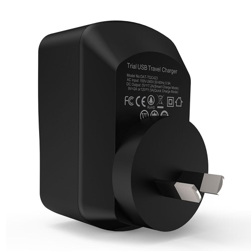 Arealer Quick Charger 3.0 Trial 42W USB Wall Charger with Two Smart USB Charger One Qualcomm Certified QC 3.0 Foldable Plug for SaCellphone &amp; Accessories<br>Arealer Quick Charger 3.0 Trial 42W USB Wall Charger with Two Smart USB Charger One Qualcomm Certified QC 3.0 Foldable Plug for Sa<br>