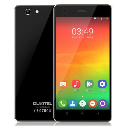 OUKITEL C4 Smartphone 4G FDD-LTE 3G WCDMA MTK6737 quad core a 64 bit 1.3GHz 5.0 pollici HD 1280 * 720 pixel dello schermo Android 6.0 Marshmallow 1GB RAM + 8GB ROM 5MP + 8MP Dual Camera ultra-sottile GPS WiFi OTA Radio FM