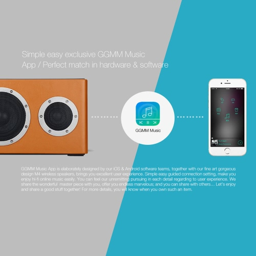 GGMM M4 Wireless WiFi Bluetooth Speaker Premium Wireless Stereo Bluetooth Speaker Box Hands Free for iPhone 6 6S 6 Plus 6S Plus SaCellphone &amp; Accessories<br>GGMM M4 Wireless WiFi Bluetooth Speaker Premium Wireless Stereo Bluetooth Speaker Box Hands Free for iPhone 6 6S 6 Plus 6S Plus Sa<br>