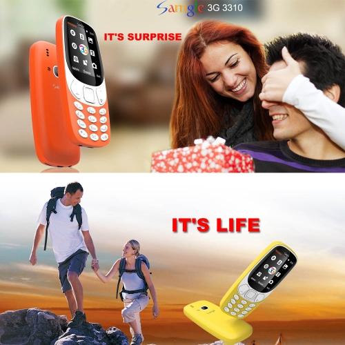 Samgle 3310 3G WCDMA Feature Unlocked Phone 2.4-Inch 3D Screen SC7701B 64MB RAM 128MB ROM 1450mAh BatteryCellphone &amp; Accessories<br>Samgle 3310 3G WCDMA Feature Unlocked Phone 2.4-Inch 3D Screen SC7701B 64MB RAM 128MB ROM 1450mAh Battery<br>