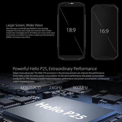 Blackview BV9000 IP68 4G Smartphone  4GB RAM 64GB ROMCellphone &amp; Accessories<br>Blackview BV9000 IP68 4G Smartphone  4GB RAM 64GB ROM<br>