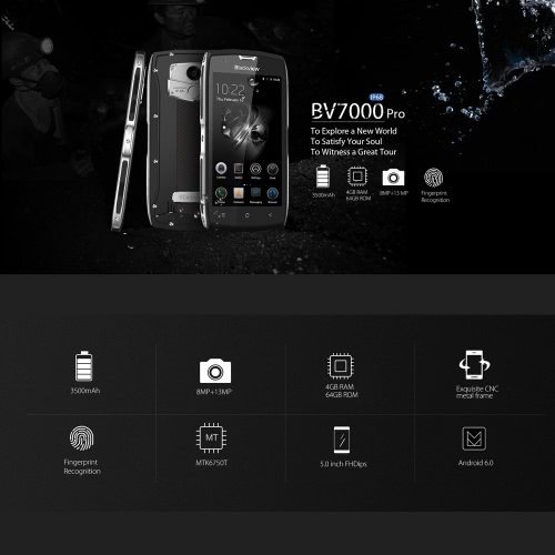 Blackview BV7000 Pro IP68 Waterproof 4G Smartphone  4GB RAM+64GB ROM 5.0 InchesCellphone &amp; Accessories<br>Blackview BV7000 Pro IP68 Waterproof 4G Smartphone  4GB RAM+64GB ROM 5.0 Inches<br>
