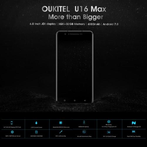 OUKITEL U16 Max 4G Smartphone 6.0 Inches 3GB RAM+32GB ROMCellphone &amp; Accessories<br>OUKITEL U16 Max 4G Smartphone 6.0 Inches 3GB RAM+32GB ROM<br>